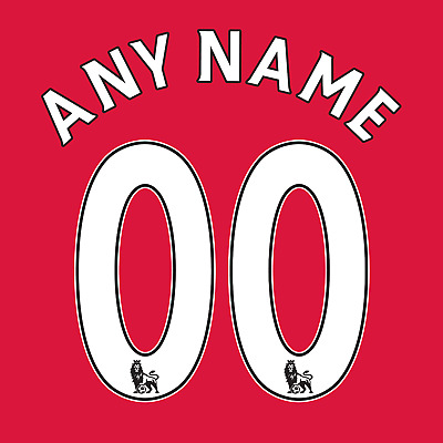 £13 • Buy Premier League 07-17 Name Number Set ANY NAME/NUMBER Red White Black