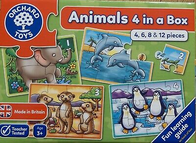 £9.99 • Buy Orchard Toys Game Animal Jigsaw Puzzle 4,6,8, 12 Piece Educational Age 3 4 5 6 7