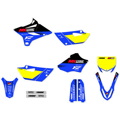 AU189.95 • Buy Ninetwo Decals X MXstore Yamaha YZ85 15-20 Blue W/Yellow BGS MX Graphics Kit