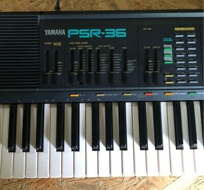 AU397.27 • Buy Vintage Yamaha PSR 36 MIDI FM Synthesizer Keyboard Soundblaster Synth 61 Keys
