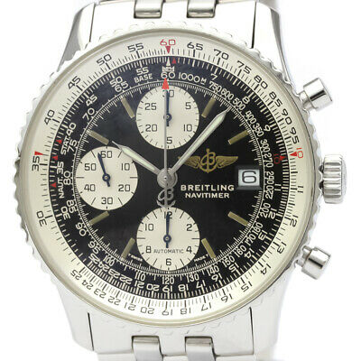 £2631 • Buy Polished BREITLING Old Navitimer Steel Automatic Mens Watch A13022 BF516544