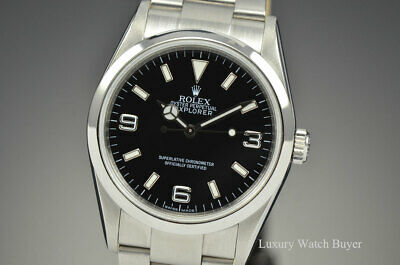 $ CDN9473.21 • Buy Rolex Explorer I Automatic Black Dial Watch Rehaut V Serial 114270