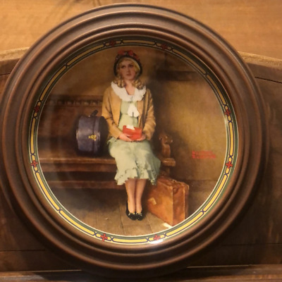 $ CDN49.99 • Buy Edwin M Knowles Norman Rockwell Collector Plate  A Young Girls Dream
