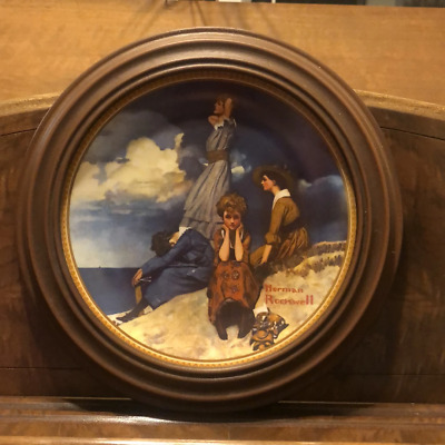$ CDN49.99 • Buy Norman Rockwell Edwin Knowles Collectable Plate- Waiting On The Shore