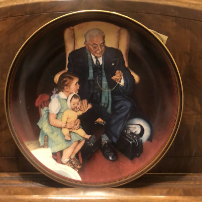 """$ CDN43.74 • Buy Norman Rockwell """"Tender Loving Care"""" Collector Plate 1988 Edwin M Knowles"""