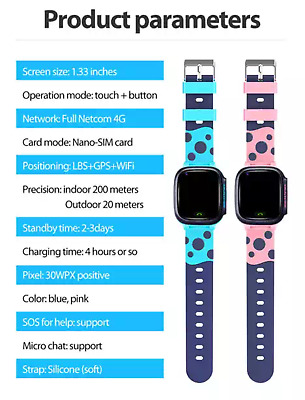 AU63.99 • Buy Kids Smart Watch Video Calls WIFI 4G Full Netcom With SOS Button - PICK UP ONLY