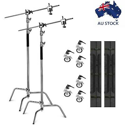 AU395 • Buy AU 2-pack Heavy Duty C Stand Century Stand With Castor Wheels For Aputure Godox