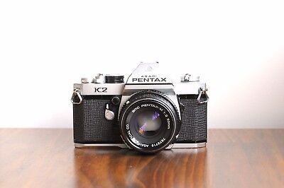 AU299.95 • Buy PENTAX K2     W/ Leather Case & Pentax-M 50mm Lens  * Good Condition/ NO Meter *