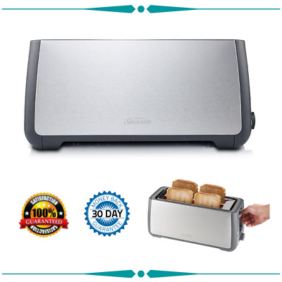 AU68.95 • Buy Toaster Long Slot 4 Slice Stainless Steel TA4540 BRAND NEW FREE SHIPPING