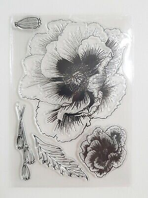 Poppy Flower Clear Stamp Set, Remembrance, Armistice Day, Help For Heroes, UK • 5.99£
