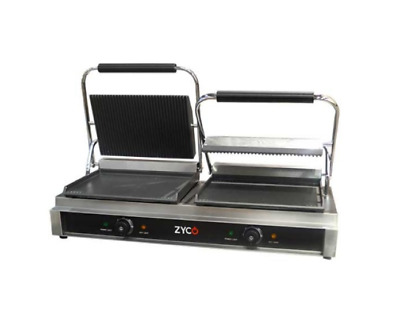 Zyco Proffessional Commercial Twin Panini Contact Grill (12 Month Warranty) • 249£