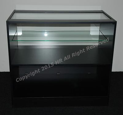 £240 • Buy NEW BLACK MATT  Glass Shop Counter  FREE DELIVERY TOP QUALITY RECEPTION DESK
