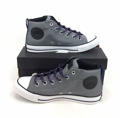 $59.99 • Buy NEW Converse Chuck Taylor All Star Street Mid Gray Blue Shoes Sneakers Mens 8