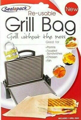 Grill Bag Food Bag REUSEABLE Paninis Toasted Sandwiches Meat Chicken UK SELLER • 2.98£
