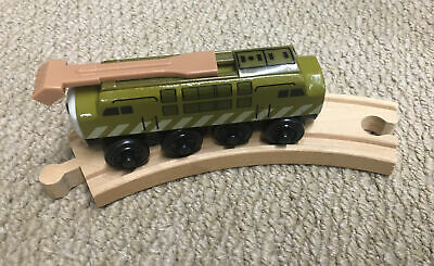 Wooden Magnetic Engine Diesel Wooden  Train Track VGC Xmas Stocking Boys Girls • 4.99£