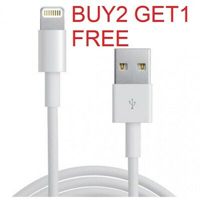 USB Charger Cable Lead For  Phone (i) 5,5C,5S,6,6S,7,7 Plus,8,8 Plus,10,X   • 0.99£