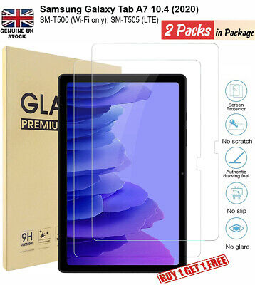 £4.49 • Buy 2x Tempered Glass Screen Protector For Samsung Galaxy Tab A7 10.4 T500/T505 2020