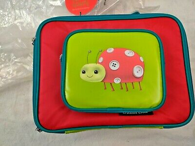 Crocodile Creek Lunch Box Bag Lady Bug Zipper No PVC No Phthalate New Red Green • 9.21£