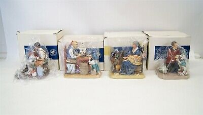 $ CDN13.09 • Buy Lot Of 4 Norman Rockwell Museum Figurines W/ Original Boxes Americana B5766