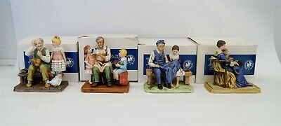 $ CDN13.09 • Buy Lot Of 4 Norman Rockwell Museum Figurines W/ Original Boxes Americana B5770