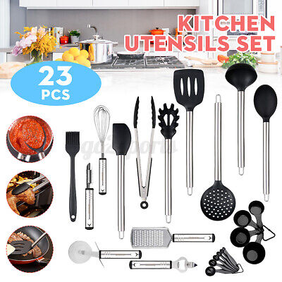 AU28.79 • Buy Set Of 23 Silicone Utensils Set Cooking Kitchen Baking Cookware Spatula Spoon