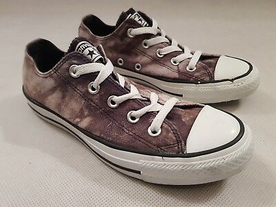 Converse All Star Grey Camouflage Low Trainers UK Size 4 • 22.99£