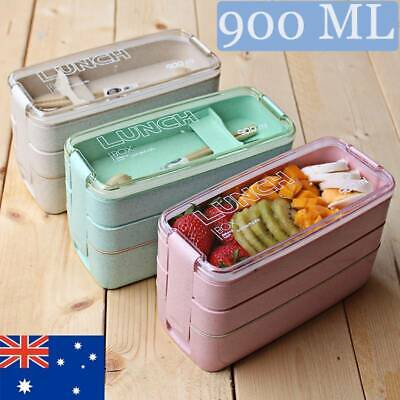 AU17.71 • Buy 3-Layer Lunch Bento Box Student Eco-Friendly Leakproof Food Container Boys Girls
