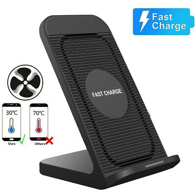 AU17.59 • Buy AU Qi Fast Wireless Charger Dock Stand With Cooling Fan For IPhone 12 Pro 11 XS