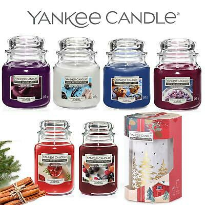 Yankee Candle Scented Glass Jar Luxury Home Fragrance & Christmas Tea Lights Set • 14.95£
