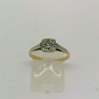 18ct Yellow Gold Diamond Solitaire - 2.1g - Size M.5 • 120£
