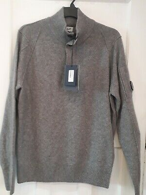 New Genuine CP Company Size XL/XXL Grey Wool Mix Sweater 50 Inch Chest • 199.99£