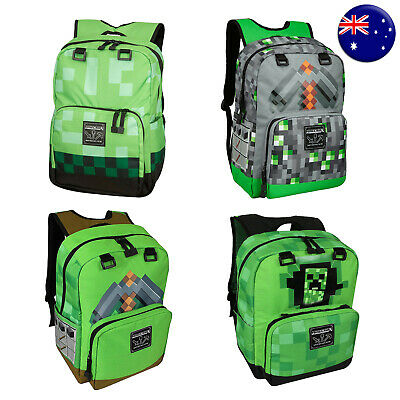 AU48.95 • Buy JINX Minecraft Official Childrens Kids Large Creeper Backpack School Bag