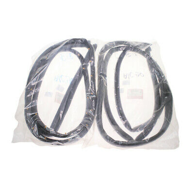 $90.29 • Buy Fit 1990-1993 Honda Accord SE DX EX LX Front Doors Weatherstrip Rubber Seal Pair