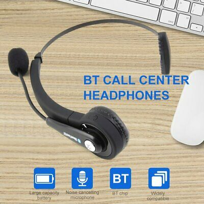 £16.71 • Buy Bluetooth Wireless Headphone Headset Over Ear For IPhone Samsung Call Center UK