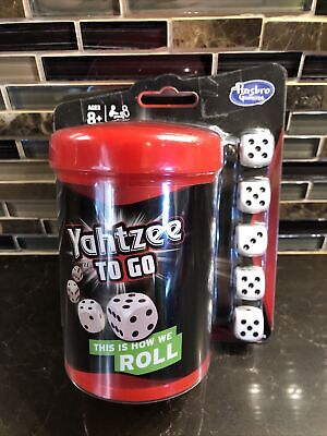 AU10.63 • Buy HASBRO Yahtzee To Go Travel Game Dice In A Cup New Play With App