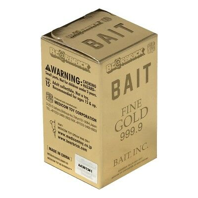 $125 • Buy BAIT Medicom BE@RBRICK Gold Bar 100% Bearbrick Figure