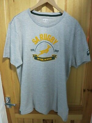 Mens Asics South Africa Rugby T Shirt -  Large / XL • 10.75£