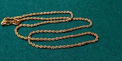 Swarovski Gold Tone Rope Chain. 18 . Perfect Gift. Costume Jewellery (5) • 4.99£