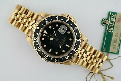 $ CDN35679.11 • Buy Vintage Rolex GMT Master II 16758 Black Dial Jubilee Band Box & Papers Year 1984