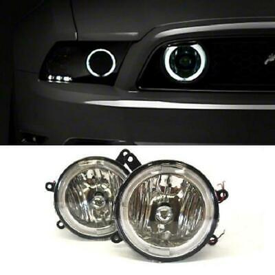 $59.99 • Buy For 2005-2009 Ford Mustang GT Hood Grille Clear Halo Fog Lights Lamp Pair+Switch