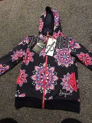 Desigual Brand New.Flowery Girls Reversible Zip Up Top. Age 7-8 • 7.50£