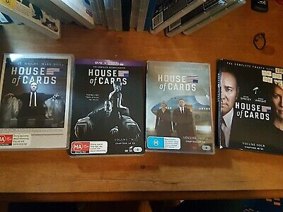 AU17.50 • Buy House Of Cards : Complete Season 1, 2, 3 And 4 Kevin Spacey, Robin Wright