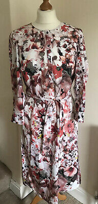 Autograph M&S Floral Dress Size 14-16 • 9.99£