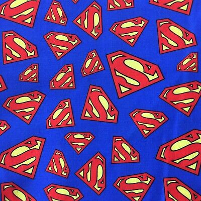 Offcut Superman Logo Superhero Character  Fabric • 6£