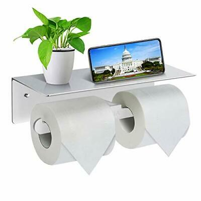 Toilet Roll Holder-Wall Mounted Toilet Paper Roll Holder, Double Rolls Tissue • 14.96£