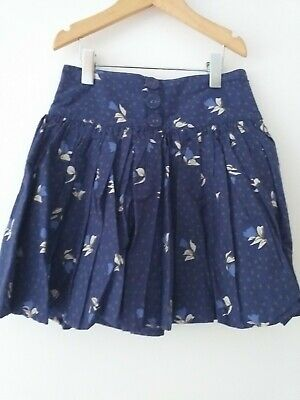 Girls Marks & Spencer Skirt Age 6 Blue Pattern With Net Layer  • 1.50£