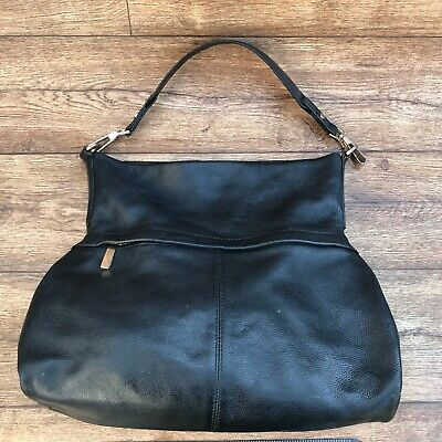 Marks & Spencer M&s Autograph Large Black Leather Tote Bag Handbag Shoulder Bag • 10£