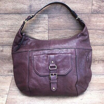 Marks & Spencer M&s Autograph Large Chocolate Brown Leather Hobo Shoulder Bag • 10£