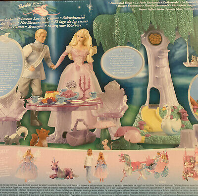 Barbie Doll Mattel Swan Lake Enchanted Forest Play Set  2003 RARE Used • 20£