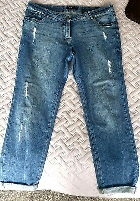 Simply Be Boyfriend Ripped Blue Jeans Size 16  • 5£